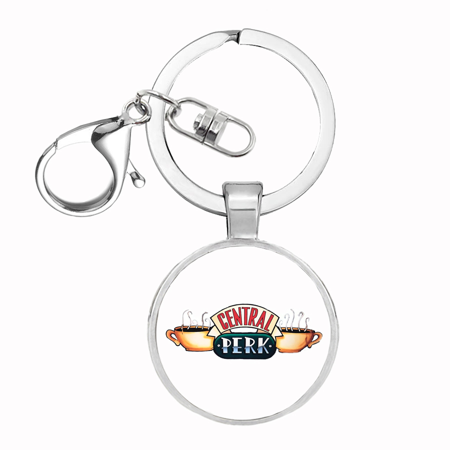 Friends TV Show Keychain Central Perk Coffee Time Key Ring Car KeyChain Best Friends Gift Gothic Retro Jewelry image