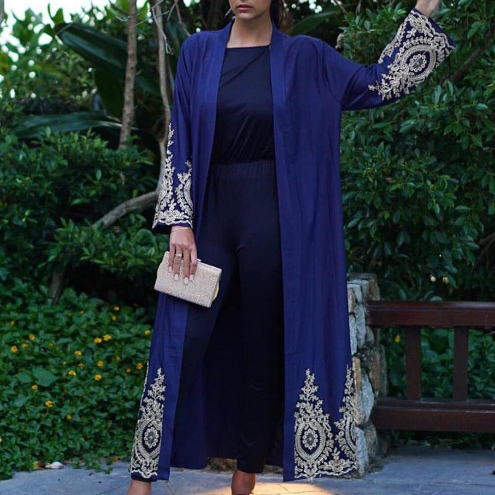 Lace Abaya Kimono Cardigan Muslim Hijab Dress Turkish Saudi Arabia African Dresses For Women Kaftan Dubai Caftan Islam Clothing Women Women's Abaya Women's Clothings cb5feb1b7314637725a2e7: Black cardigan|blue cardigan