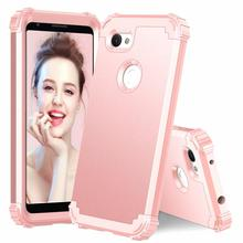 3 in 1 Hybrid Heavy Duty Armor Case For Google Pixel 3A XL PC Hard + Silicone TPU Cover For Pixel 3A Phone Case Shockproof стоимость