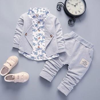 Ubranka dla dzieci ubranka dla chłopca ubranka dla dzieci ubranka dla chłopca Gentry zestaw formalne przyjęcie chrzciny smoking ślubny garnitur dla dzieci tanie i dobre opinie COTTON W wieku 0-6m 7-12m 13-24m CN (pochodzenie) dla dziewczynek moda Wykładany kołnierzyk Pulower Pełne REGULAR Dobrze pasuje do rozmiaru wybierz swój normalny rozmiar