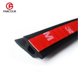 Image 2 - 1 Meter P Type 3M Adhesive Car Door Side Bottom Sealing Strip Sound Insulation And Dustproof Rubber Strip Essential Accessory