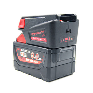Image 2 - Krachtige USB Batterij Adapter Converter voor Milwaukee M18 18V Li Ion Batterij V18 Li Ion Batterij Batterijen Converter Adapter