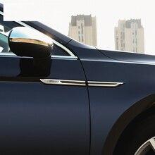 Для Volkswagen Passat B8 хромированные аксессуары Passat B8 вариант модифицированные наклейки для автомобилей крыло логотип тело яркая полоса украшения