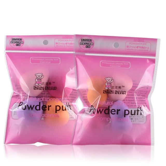 MAANGE 2/4Pcs Drop Mini Makeup Sponge Puff Foundation Base Cream Powder Blending Gourd Shape Face Nose Cosmetic Make Up Tool Set 6