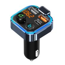 Car Bluetooth 5.0 FM Transmitter Wireless Handsfree Audio Receiver Auto MP3 Player PD 20W Radio Adapter 3-in-1 USB Fast Charger