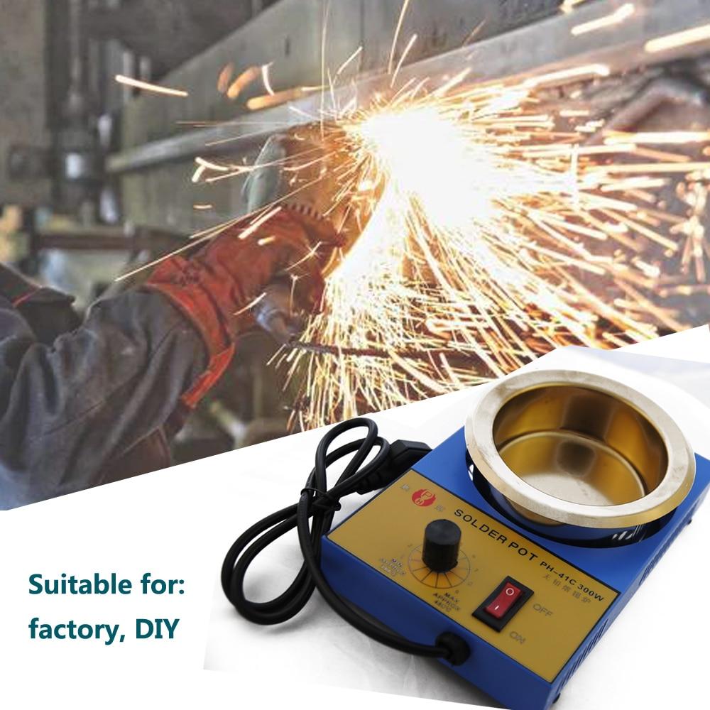 Tools : High Quality Temperature Controlled Soldering Pot Melting Tin Pot Tin Cans EU US UK Plug 200 450 Centigrade