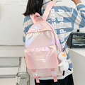EST New College Lady Backpack Kawaii Fashion Girl School Bag Trendy Women Cute Backpack Nylon Female Harajuku Bag Student New