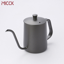 MICCK Teflon Stainless Steel Long Narrow Coffee Maker Mocha Pot Bean Make Espresso Percolator Tools
