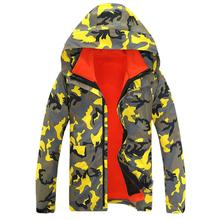 Couple Casual Autumn Winter Outdoor Mountaineering Windbreaker Jacket Long Sleeve Hooded Zipper Fleece Outdoor Jacket Clothing