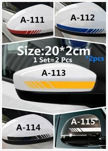 Image 5 - 1Set=2Pcs Car Sticker Bat Carbon Fiber Car Sticker Rearview Mirror Car Sticker Cute Decorative Car Sticker Smiley Face