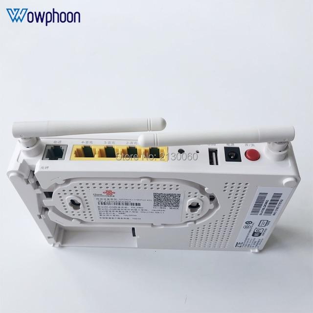 Новая модель 2019 ZTE F677 GPON ONU 1GE + 3FE + 1Tel + 1USB + Wi Fi одинаковая функция F623 F663N F660, английская версия