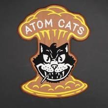 Atom cats бэк вышивка патч для одежды шляпа сумки гладить на подложке