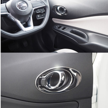 Decoração do carro de aço inoxidável interior alça guarnição estilo do carro capa acessórios para nissan note versa hatchback 2017 up