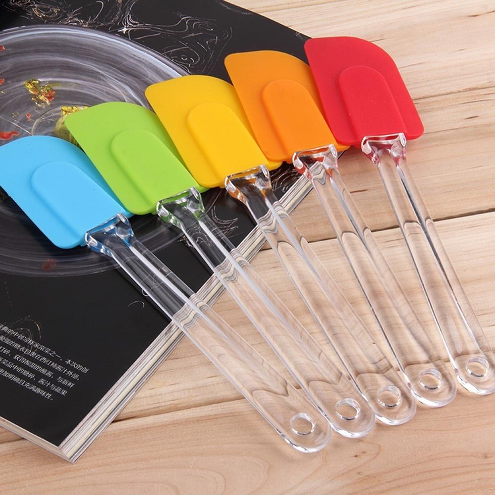 Heat Resistant Silicone Cake Baking Butter Spatula Mixing Scraper <font><b>Kitchen</b></font> <font><b>Tool</b></font> High Temperature Resistant Cake Cream Scraper Spa image