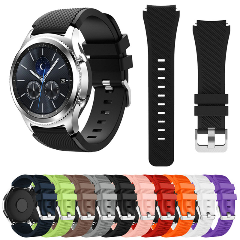 Gear S3 Frontier Band For Samsung Galaxy Watch 46mm  22mm Watch Band Soft Silicone Bracelet Smart Watchband Gear S3 Classica