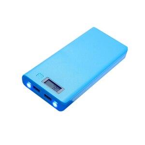 Image 4 - 8*18650 uchwyt baterii podwójny USB Power Bank pojemnik na baterie ładowarka do telefonu komórkowego DIY Shell Case ładowanie Storage Case dla Xiaomi