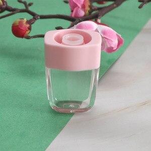 Image 5 - 10 個 8 ミリリットルリップグロスボトルリップ釉薬チューブ空ピンクアイスクリームリップグロスチューブ包装材料メイクdiyリップ釉薬