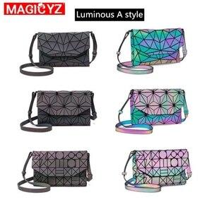 Image 2 - 여성을위한 MAGICYZ Crossbody 가방 2020 패션 레이저 기하학적 빛나는 여성 핸드백 지갑 클러치 디자이너 브랜드 어깨 가방