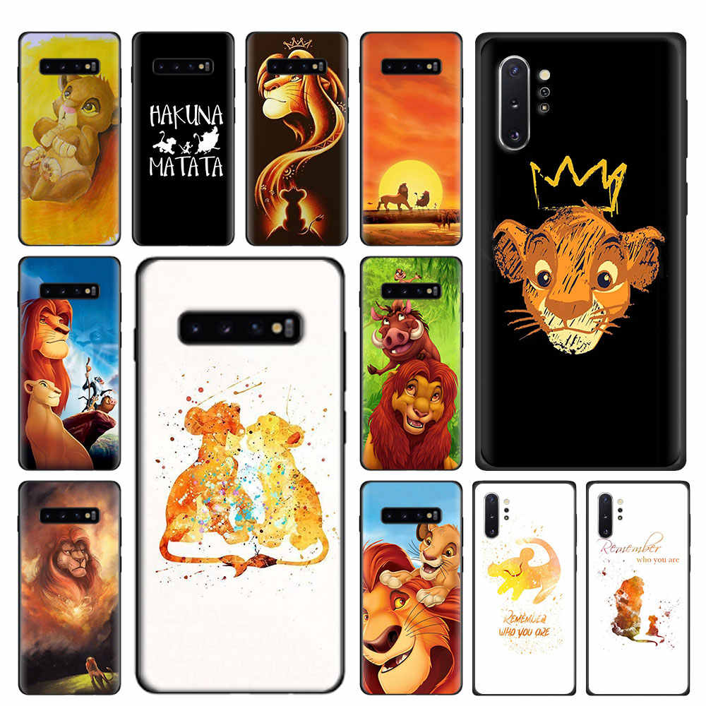 Siliconen Case Voor Samsung Galaxy S8 S9 S10 Plus Note 8 9 10 Plus S10e S10 5G S7 Rand tpu Cover De Lion King
