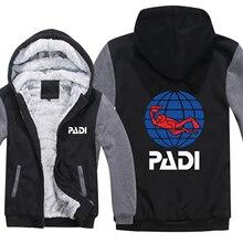 Z aparatem tlenowym sterownik Padi bluzy z kapturem męskie Zipper płaszcz z polaru zagęścić Padi bluza z kapturem