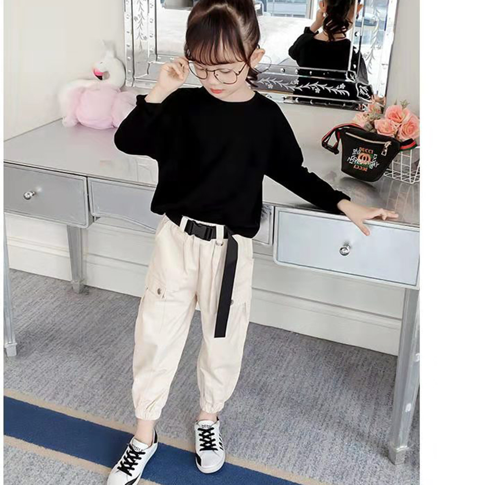 Girls Clothing Sets 2019 Spring Autumn Toddler Girls 2Pcs Outfit Kids Tracksuit Suit For Girls Age 3 4 5 6 7 8 9 10 12 Year