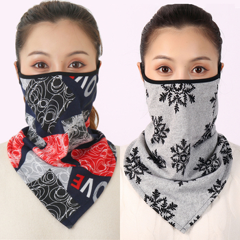2020 New Women Winter Scarves Cotton Feeling Mask Man Neck Scarf Rings Headband Soft Warm Face Scarfs Masks - discount item  56% OFF Scarves & Wraps