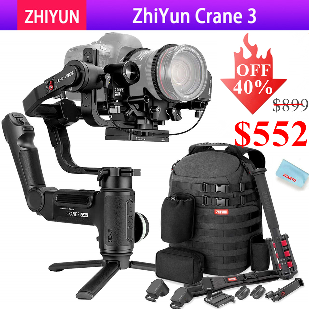 Zhiyun Crane 3 LAB 3-axis Handheld Gimbal Stabilizer For DSLR Canon Nikon Panasonic Cameras,Wireless Image Transmission ViaTouch