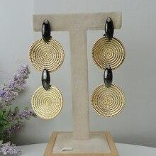 Yuminglai 24K 두바이 골드 귀걸이 여성을위한 브라질 귀걸이 FHK8462