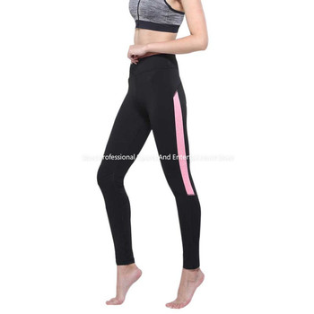 2017 Women Lady running sport pant Fitness Legging light grey pink spring gym activewear legging American Original Order image