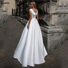 לורי קו Boho חתונה שמלת בובת צווארון בציר שרוולים כלה שמלת 2019 תחרה עד בחזרה שמלת כלה מקיר לקיר אורך