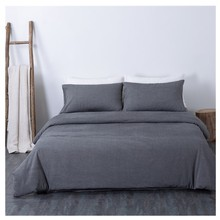 Four-piece set of solid color washed cotton Four-piece set of simple bedding Single quilt cotton four-piece set Simple bedding