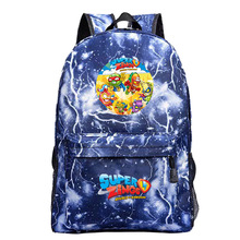 Nowy Bookbag Super Zings Cartoon plecak gry torby szkolne dla nastoletnich dziewcząt i chłopców plecak moda na co dzień podróży Mochila Feminina tanie tanio NYLON Unisex Miękka Poniżej 20 litr Wnętrza przedziału Wewnętrzna kieszeń Wnętrze slot kieszeń Kieszeń na telefon komórkowy