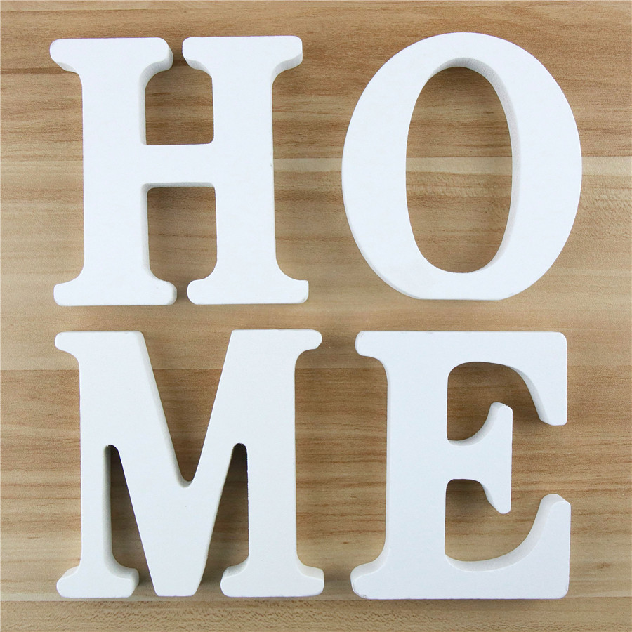 1pc 10cm Wooden Letters Alphabet Word Letter White Name Design Art Crafts Standing DIY Birthday Wedding Home Decor 3.94 Inches