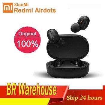 Original Xiaomi Redmi AirDots TWS Earphones 5.0 Wireless Bluetooth Earphone Reduction Noise AI Control Gaming Headset With Mic