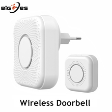 433MHz Plug-in Wireless Smart Doorbell with Long Range and 36 Chord Ringtones Wireless