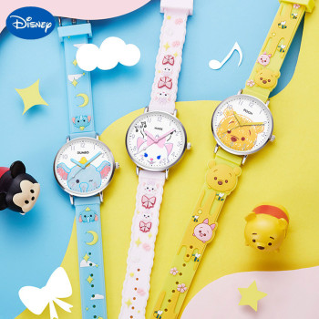 Original Disney Winnie The Pooh Songsong Watch Female Dumbo Childrens Cute Bear Waterproof