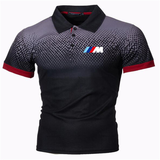 New Summer Men Brand Clothing printing BMW M Men Business fashion Casual Male Polo Shirt Short Sleeve Breathable Soft Polo Shirt 6
