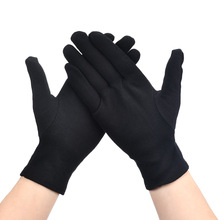 6 4 2Pairs Women Men Gloves Black White Etiquette Thin Gloves Stretch Sunscreen Gloves Dance Tight Jewelry Gloves Driving Gloves cheap CN(Origin) 140g A9141-L-BK Rubber Cleaning Cotton
