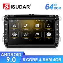 Isudar 2 Din AndroidรถมัลติมีเดียสำหรับVW/Volkswagen/TIGUAN/MAGOTAN/กอล์ฟ/แคดดี้/skoda/ที่นั่ง/LEON GPS Wifi FM DVD CANBUS