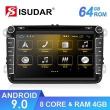 Isudar 2 Din Android araba multimedya oynatıcı VW/Volkswagen/TIGUAN/MAGOTAN/Golf/CADDY/skoda/SEAT/LEON GPS Wifi FM DVD CANBUS