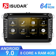 Isudar 2 דין אנדרואיד מולטימדיה לרכב נגן עבור פולקסווגן/פולקסווגן/TIGUAN/MAGOTAN/גולף/CADDY/סקודה/מושב/ליאון GPS Wifi FM DVD CANBUS