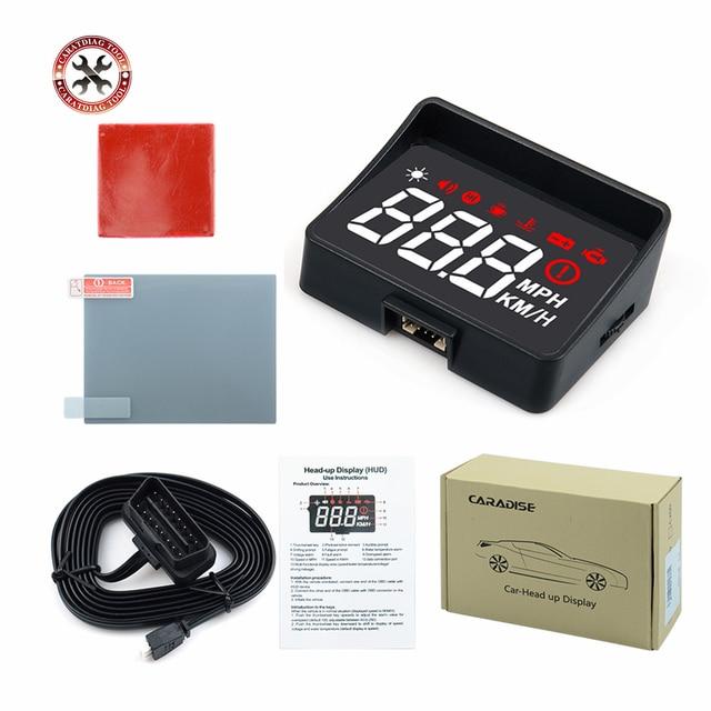 Проектор на лобовое стекло A100S, универсальная интеллектуальная система сигнализации с дисплеем, предупреПредупреждение о превышении скорости, OBD2