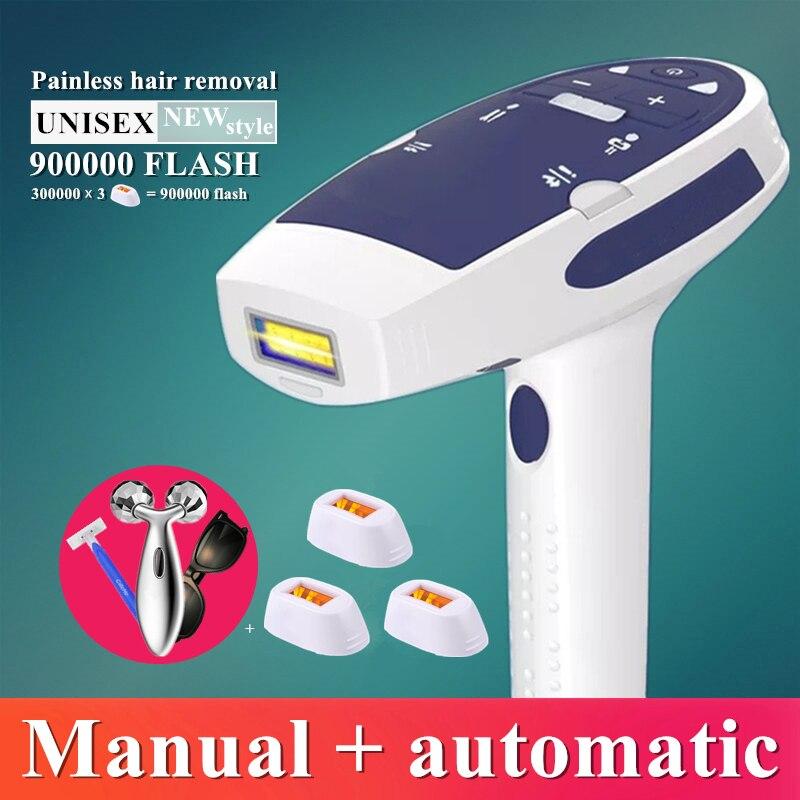 900000 de flash IPL máquina de depilação a laser depilação a laser de depilação permanente biquíni trimmer elétrica depilador a laser Facial