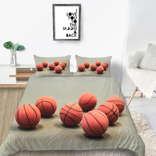 Basketballs Bedding Set King Simple Comforable Fas