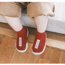 Toddlers Baby Socks Anti-slip Infant Baby Girls Sock Shoe with Rubber Soles Kids First Walker Warm Terry Thick Socks Winter Fall(China)