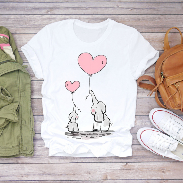 2020 New Women T-shirts Casual Fashion Printed Tops Tee Summer Female T Shirt Short Sleeve Round Neck T Shirt For Women Clothing