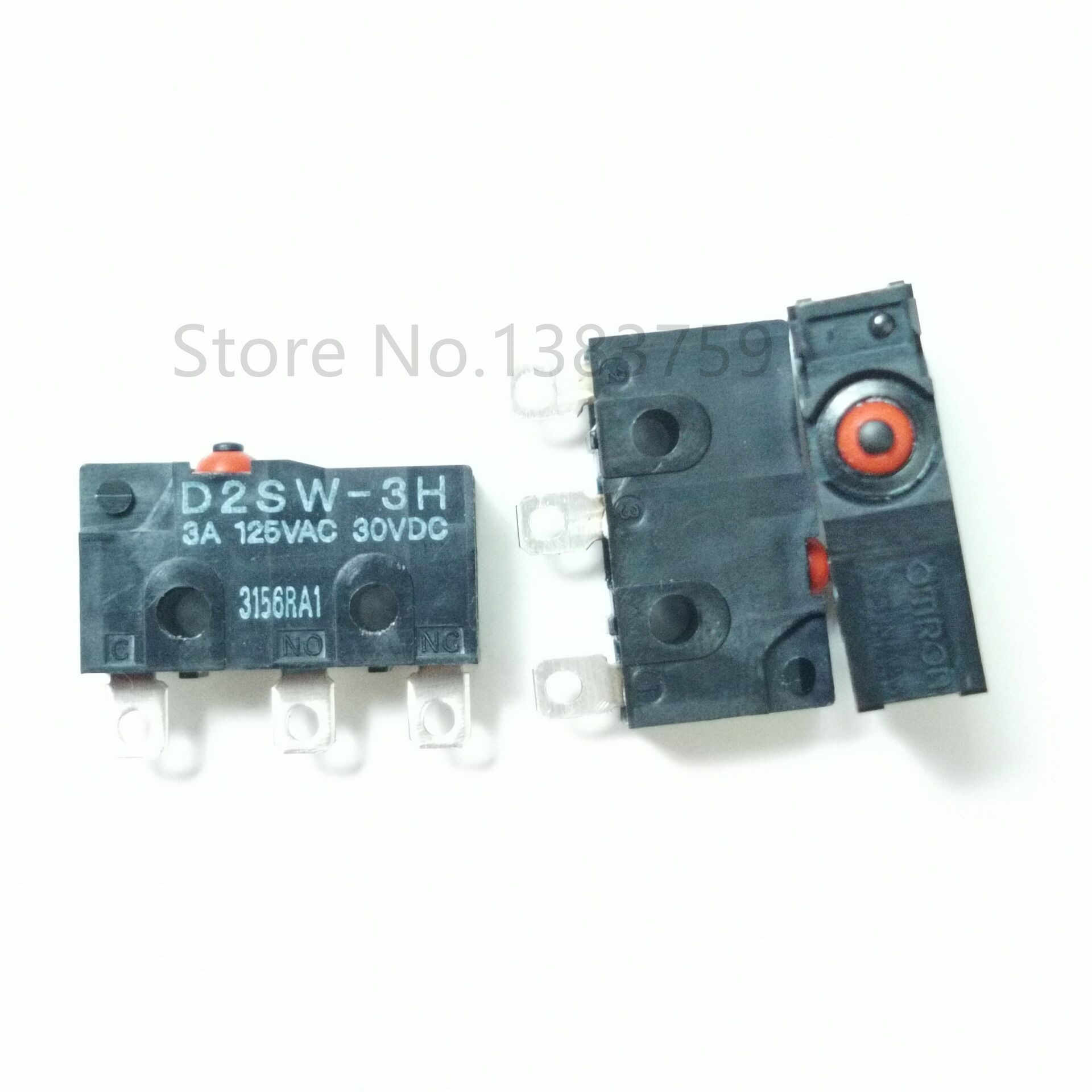 D2SW-3H Sealed 3 Kaki Light Touch Micro Switch Tahan Air dan Tahan Debu 3A 125V
