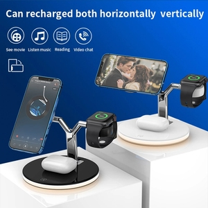 Image 4 - 3 in 1  15W Fast Charging Station Magnetic Wireless Charger for Magsafe iPhone 12 pro Max Chargers for Apple Watch Airpods pro