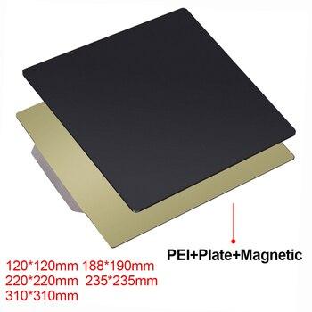 3D принтер запчасти удаление пружина стальной лист PEI гибкий магнитный стикер 220x220 235x235 310x310 мм для ender 3 CR10 тепловой кровати
