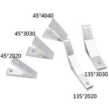 4 шт. 2020/3030/4040/4545/6060/8080/9090/3060/4080/4590/45/135 Угловое соединение на градусов для алюминиевой опорной направляющей